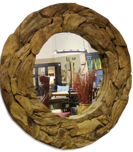 Driftwood Mirror Round 150cm