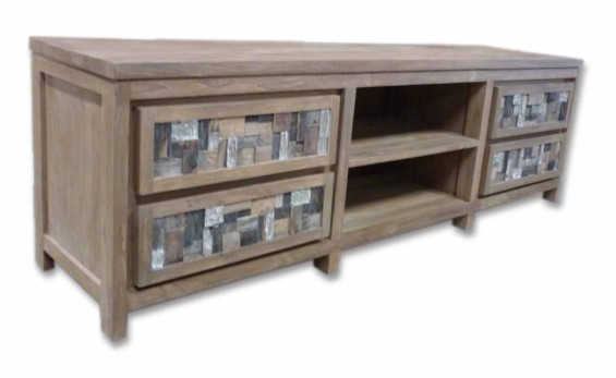 Moziac 4 Drawer Entertainment Unit