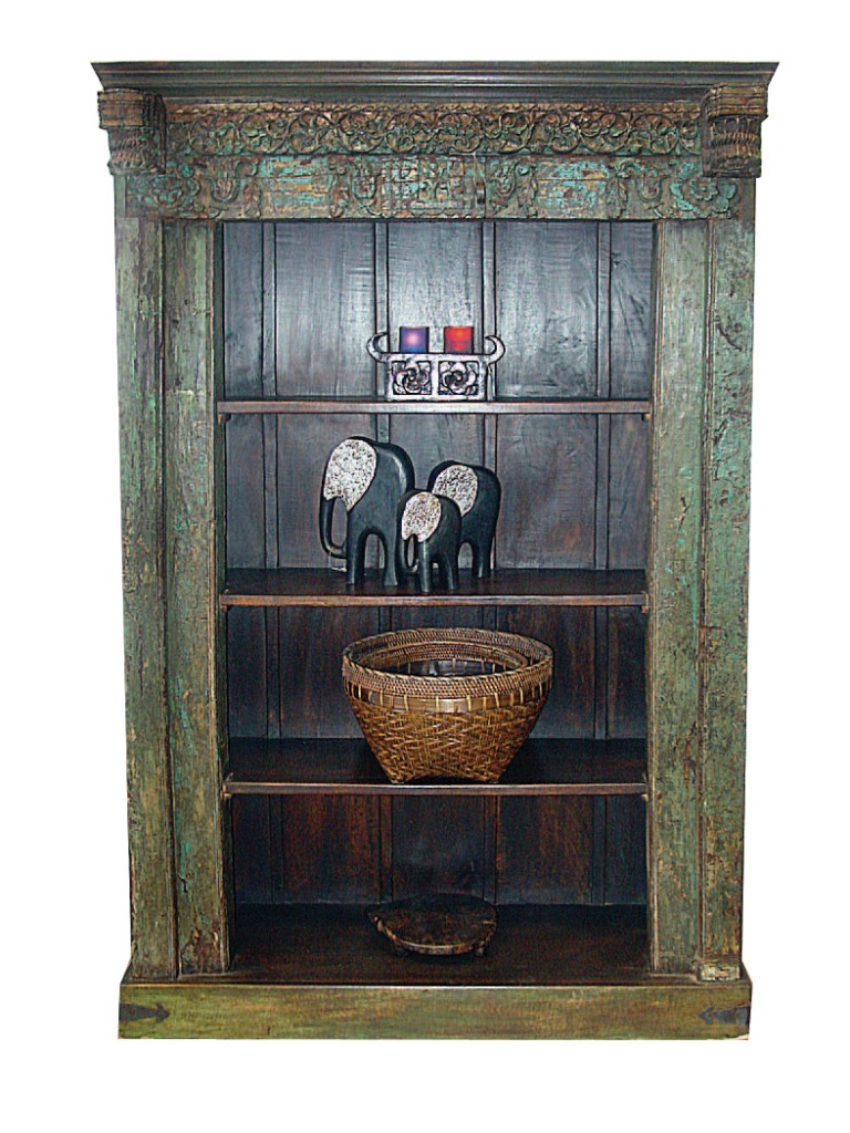 Old Book Display Case ~ Old indian door frame book case bookcases display