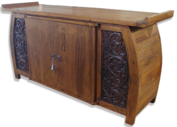 Rounded Side Carved Buffet