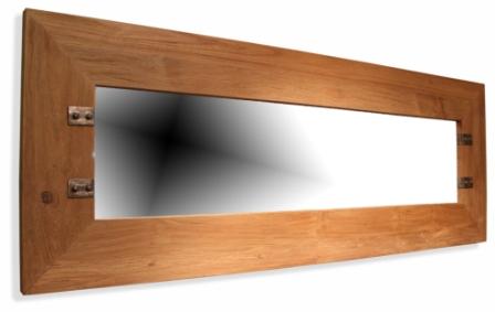 Industrial Style Recycled Teak Mirror