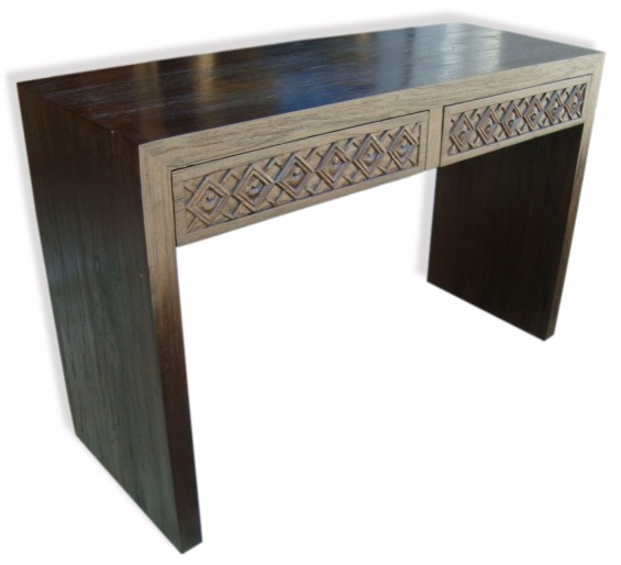 Carved Drawer Recycled Hardwood Console