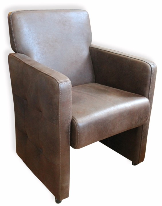 The Chicago  Suede Leather Chair