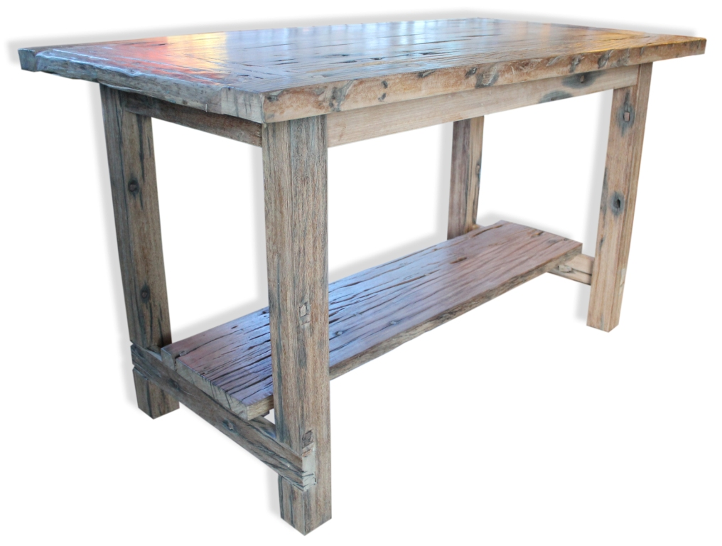 this stunning high table made from old reclaimed railway sleepers ...