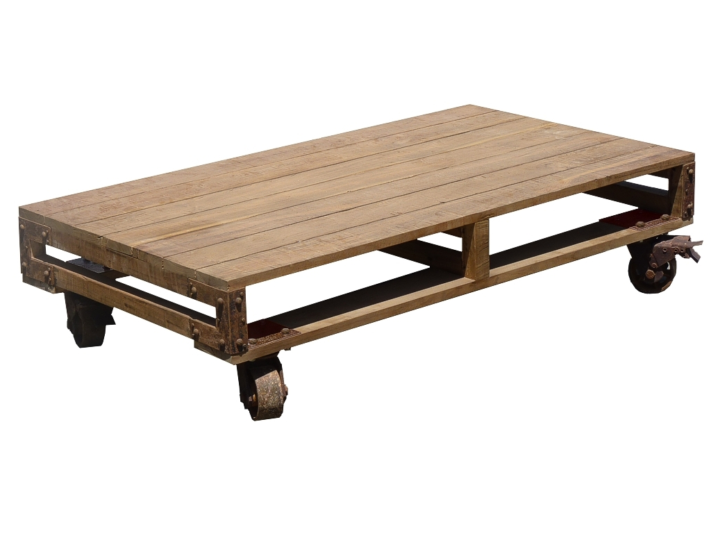 Pallet Coffee Table With Wheels Coffee Lamp Tables
