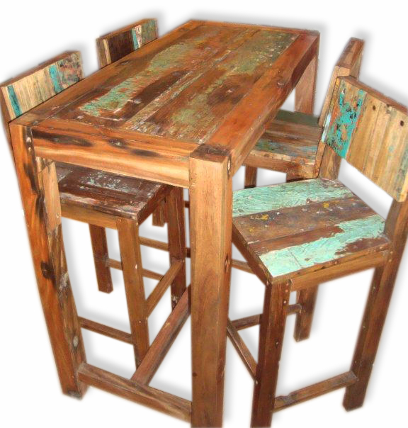 Old Boat High Tables Matching Bar Stools Dining Dining Room Old Boat