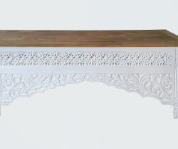 KYT061-2 white rubbed base and natural top