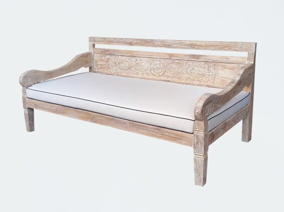 White Washed Teak Daybed