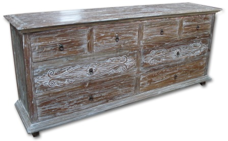 Recycled Carved Dresser