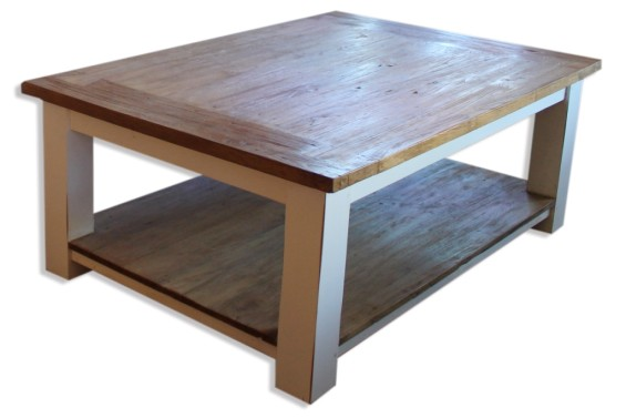 Brighton Coffee Table with white Legs