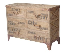 PALETTE CHEST 6 DRAWERS 120 X 45 X 90H