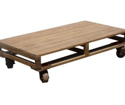 PALETTE COFFEE TABLE WITH WHEELS 130 X70 X31H