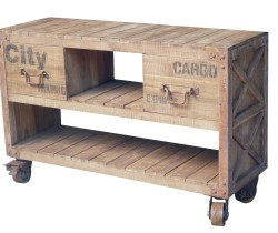 PALETTE CONSOLE 2 DRAWERS WITH WHEELS 120 X 40 X 78H