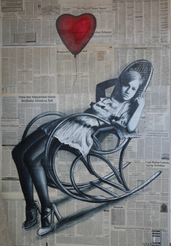 Girl In Rocking Chair
