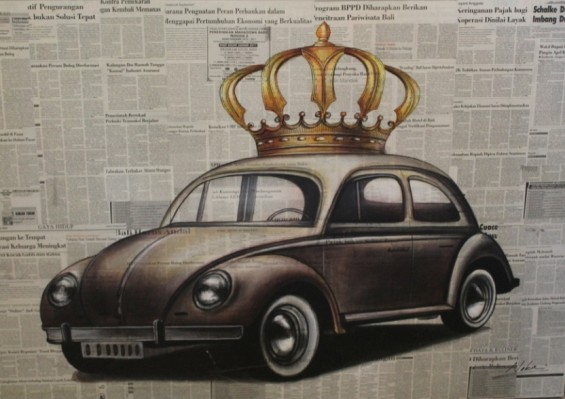 Beetle Painting with Crown