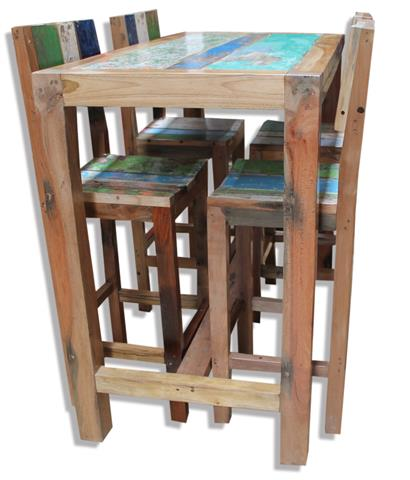 Old Boat High Tables & Matching Bar Stools