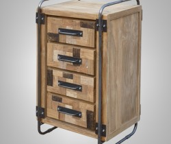 ART DECO CHEST OF DRAWERS 60 X 45 X 96H